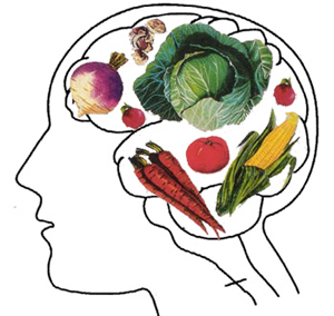 vegetables on the brain